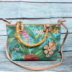 RELIC - Adorable Hawaiian Bamboo Handle Purse  EUC